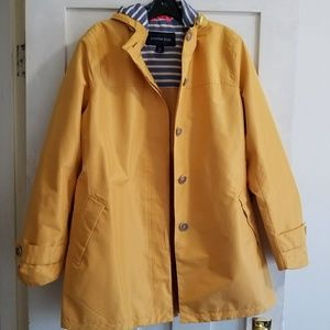 Lands end rain trench coat